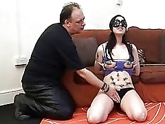 Amateur BDSM breast play