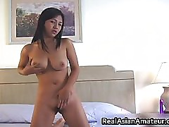 Irresistable busty asian cutie dildo part2