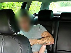 Busty amateur sucks and fucks in taxi