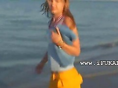 Amateur blowjob on the beach