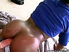 Black ass gets creamed on