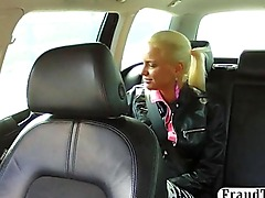 Beautiful amateur college girl fucked by a taxi driver