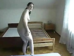 Hot amateur brunette middle age mom with big dildo