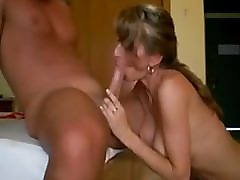 Sexy euro MILF loves her pussy filled with cream