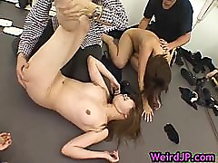 Huge japanese gangbang hardcore part4