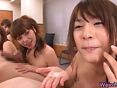 Horny japanese girls in extreme hardcore part1