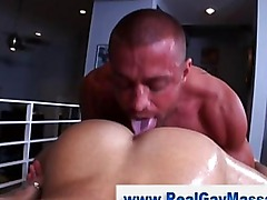 Straight amateur twink gets hard during massage
