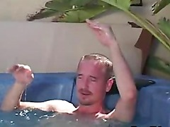 Cute Teen Amateur Gets Analized By Older Man In The Jacuzzi