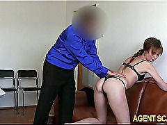 Fake agent drilled n jizzed on this babe named Rebecca