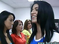 Amateur lesbians lick babes ass in reality college sexparty