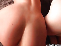 Sexy brunette and blonde babes get horny