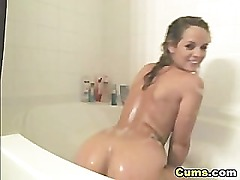 Blonde Hottie Horny in the Shower HD