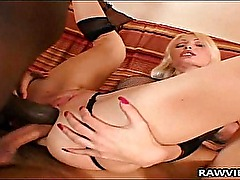 Blonde Nympho Reamed in DP Anal