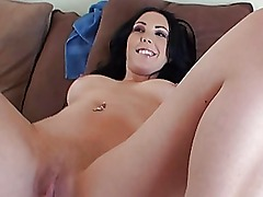 Megan Foxx amateur busty brunette with big ass blowjobs and fucking
