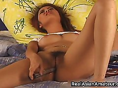 Horny Asian amateur dildo fucking her part4