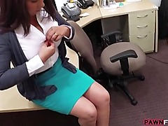 Married honey fucked by the pawn owner