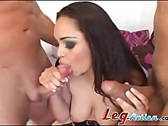 Sandra Soto Gets Double Teamed