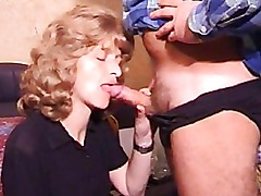 Mature amateur wife homemade blowjob with cumshot