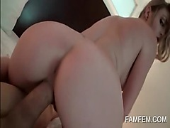 Amateur temptress fucking a fat pecker in POV