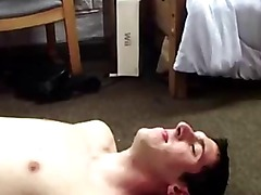 Real amateur twink pledge gets fucked