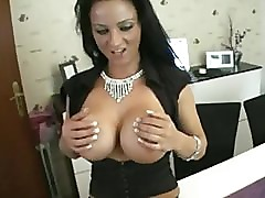 Sexy German Slut With Big Fake Tits Fucks Her Neighbor