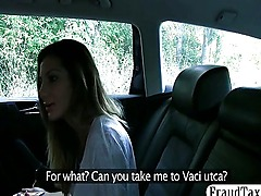 European babe scammed into sex by her taxi