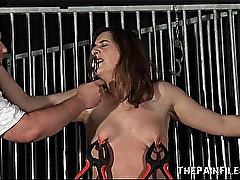 Tall amateur slave in extreme bdsm and vicious pussy torment