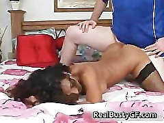 Busty latina suck dick and gets hardcore part2