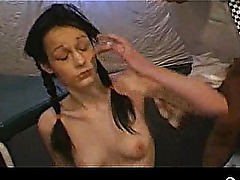 Amateur brunette MILF takes cumshots and strips11 Widescreen TSO[38]