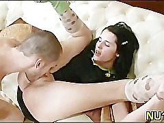Teen plays with mans cock