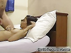 Skinny asian amateur sloppy cock sucking part1