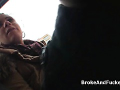 Banging bigtit amateur from the bus