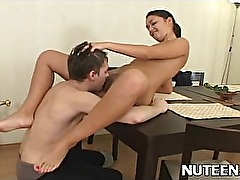Teen getting her tight sweet pussy