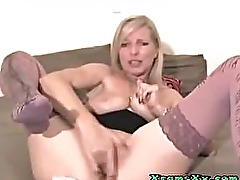 Blond Milf Fuck 3 Dildos In Her Pussy on Xcam