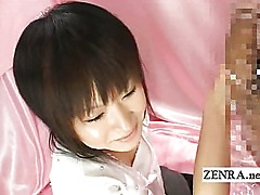 Bizarre Japan CFNM blowjob with amateur