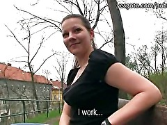 Super sexy amateur Iveta public flashing