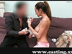 College student tries anal in casting