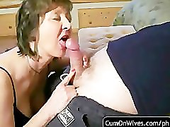 amateur blowjob and cumshot compilation