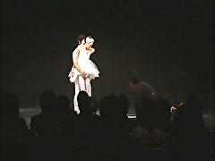 Ballerina From Asia Fucked On Stage
