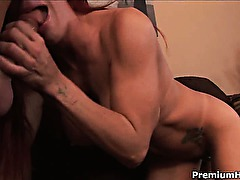 Gorgeous fake boobs milf Shannon Kelly gets her mouth,