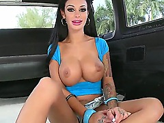 Model name is Angelina Valentine, and that cockloving whore will show you what deepthroat blowjob really means, definitely worth to see how her mouth will be full of cum! Enjoy!