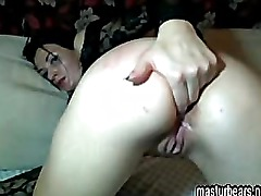 Fingering my Pussy and Ass at home