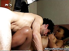 White Dude Bangs Sexy African Hooker