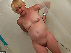 Old Grandma masturbate young Girl, bbw granny with big dildo