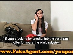 FakeAgent Cute young brunette fucks in casting
