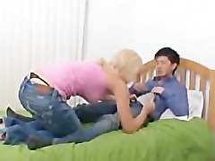 Asian Guy Fucks Blond Girl
