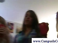 College girl gets dick slapped