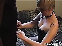 Horny Slut Is Punished By Black Guy