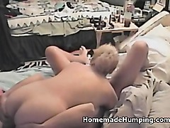 Amateur Blonde Banged on Tape