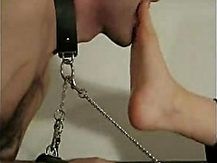 Foot worship and gagging